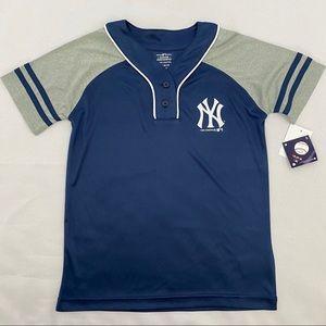 MLB New York NY Yankees Blue Gray Baseball Jersey